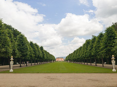 A view from the garden to Schwetzingen Palace, Germany