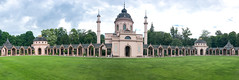Panoramic view of the mosque in the Schwetzingen Palace Garden, Germany