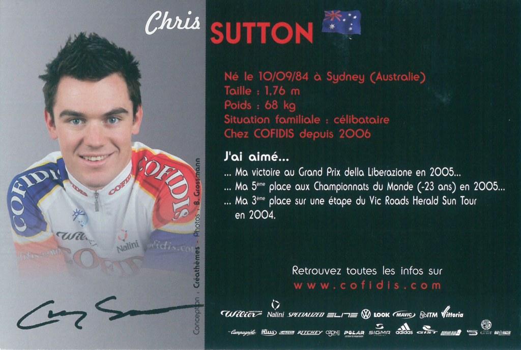 Sutton Chris - Cofidis, le crédit par téléphone 2006 (2)