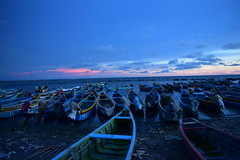 Around Jaffna, fisherman boats at sunset
