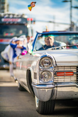 Cadillac Deville taking part at a carnival
