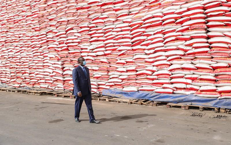 Réception du 1er lot de vivres dans le cadre de l'aide alimentaire d'urgence