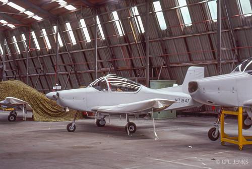 October 1978, overall grey RNZAF Airtrainer NZ1947, Wigram