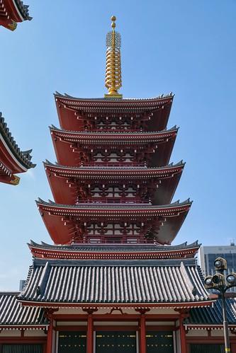 La pagode du sanctuaire Asakusa à Tokyo