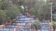 Nevada - Las Vegas: The MIRAGE -  this pool is part of the front attraction --> with an Volcano (erupts regularly at night) and tropical water features
