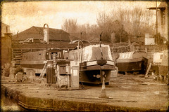 """The Boat Yard"" Trent Mersey Canal, Stoke on Trent. Staffordshire ~"