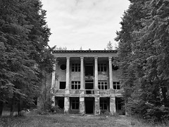 abandoned building in the forest