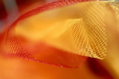 curiosando un groviglio di tulle giallo e rosso - browsing a yellow and red mess of tulle