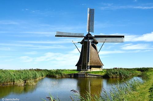 Niederlande / Provinz Friesland / Holwerd / De Miedenmolen / Baujahr: 1855