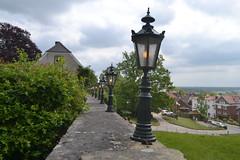 Lampen auf der Mauer der Burg Bentheim (136FJAKA_3618)