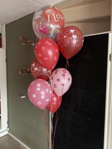 Ballonboeket Valentijn I Love You