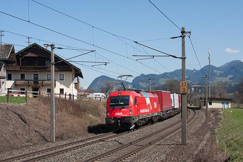 1216 017 an der Hst Münster-Wiesing mit einer ROLA