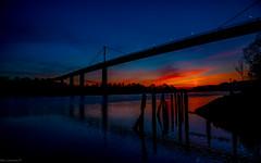 Tonights Sunset 14/04/2020 From under the Erskine Bridge Glasgow...