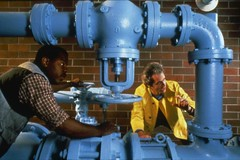 Water Department employees, circa 1990