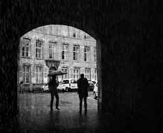 Intimate confession in the rain