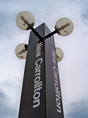 New Carrollton platform pylon