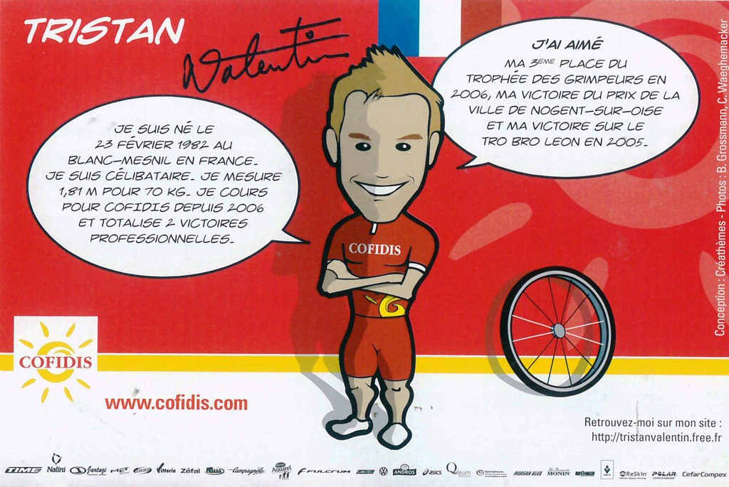 Valentin Tristan - Cofidis, le crédit par téléphone 2008 retro