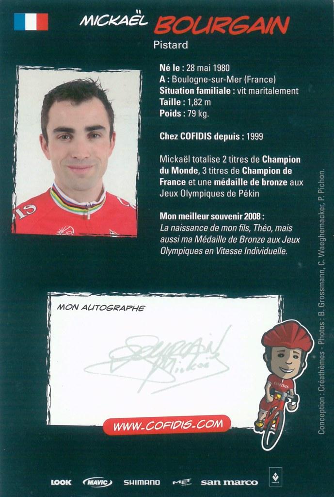 Bourgain Mickael - Cofidis, Le Credit en Ligne 2009 retro