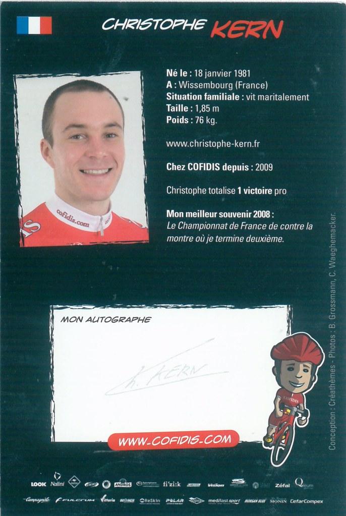 Kern Christophe - Cofidis, Le Credit en Ligne 2009 retro