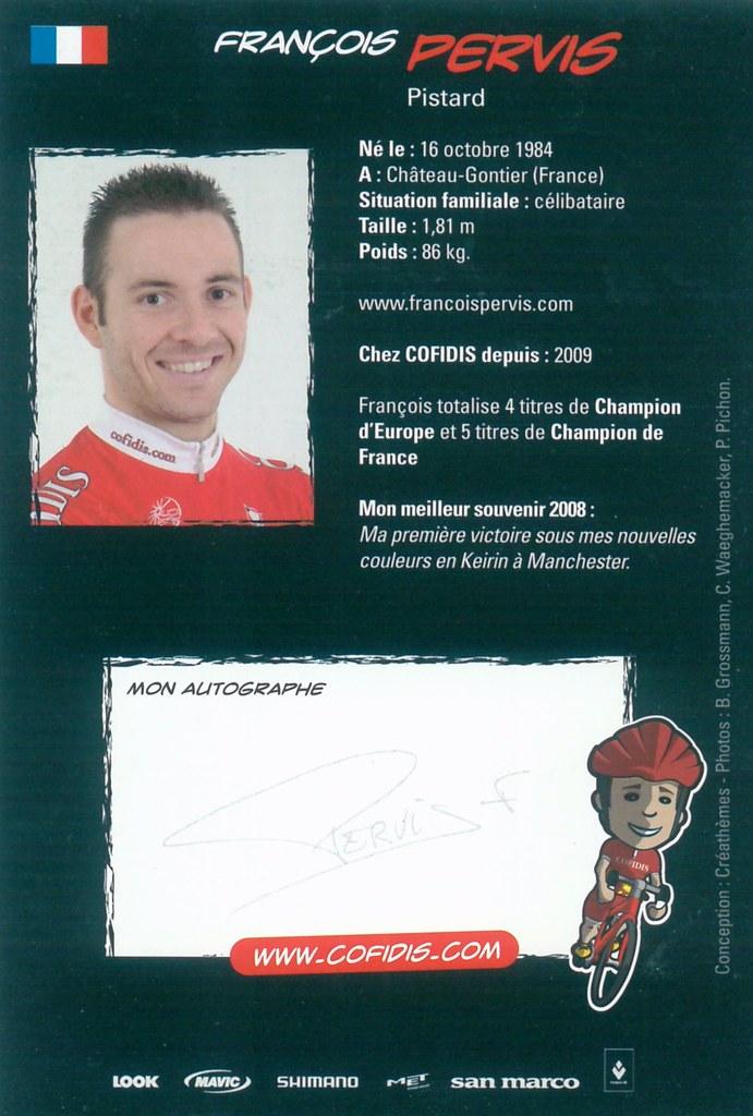 Pervis Francois - Cofidis, Le Credit en Ligne 2009 retro