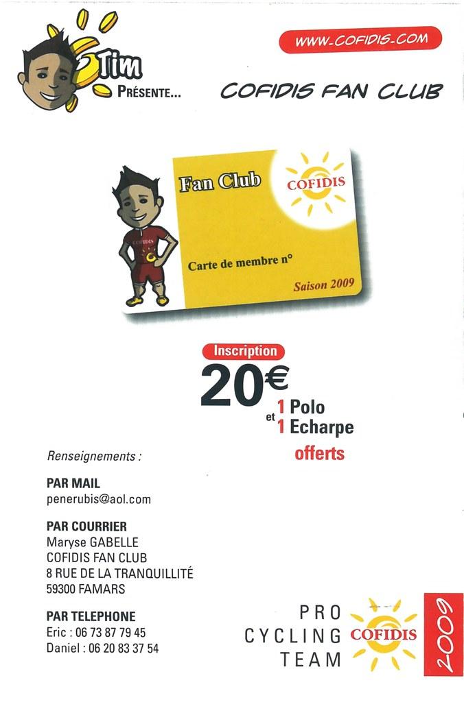Cofidis, Le Credit en Ligne 2009 - Cofidis Fan Club