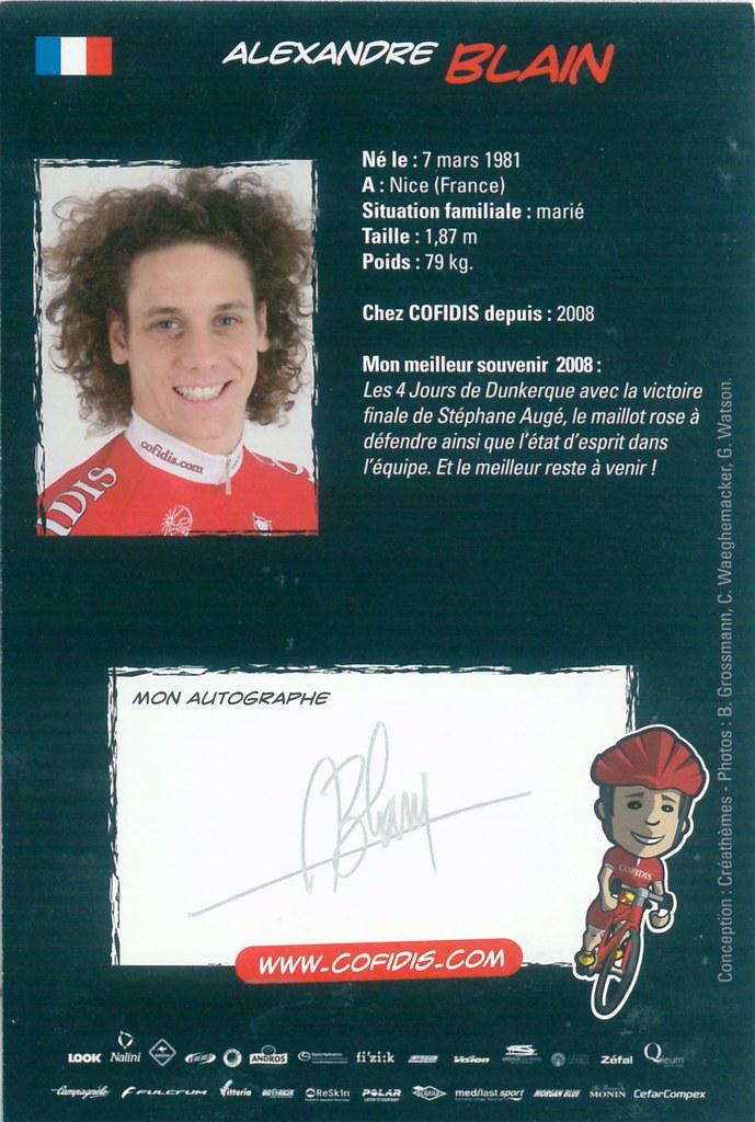 Blain Alexandre - Cofidis, Le Credit en Ligne 2009 retro