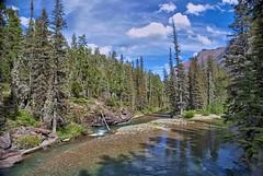 A view downstream at Glacier NP