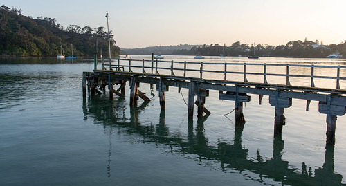 The old wharf at Catalina Bay, Hobsonville, New Zealand