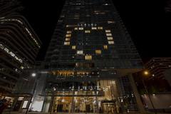 Shangri-La Hotel light up with heart