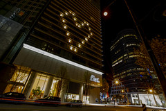 Fairmont Pacific Rim light up with heart