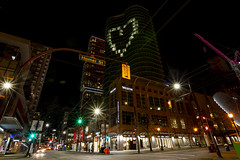 The Westin Grand light up with heart