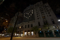 Fairmont Hotel Vancouver light up with heart