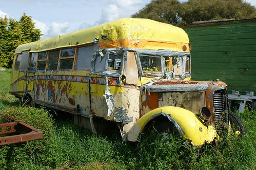 Opotiki: Dodge bus (c.1930s) (1)