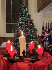 Advent candles, Christmas Eve 2019