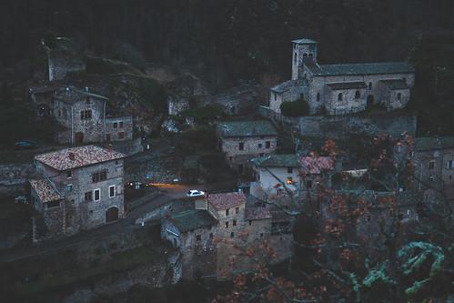 Malleval à la nuit tombée