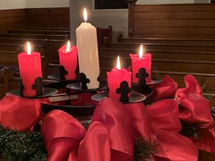 Advengt candles, Christmas Eve 2019