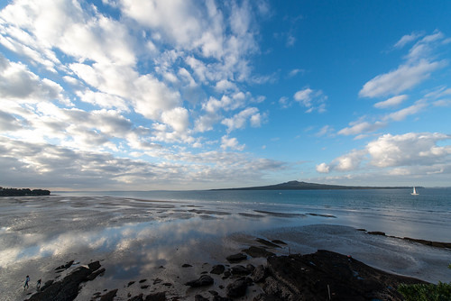 Rangitoto Island from Mairangi Bay, Auckland, New Zealand