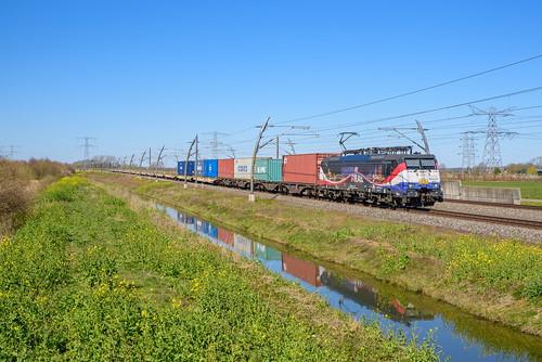 RFO 189 213 met Duisburg-shuttle, Herveld