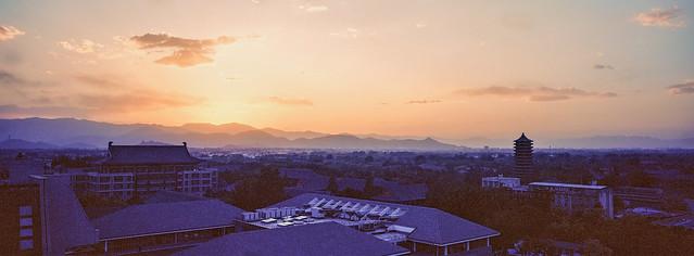 Sunset of Peking University, Beijing