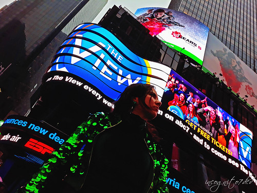 In Times Square at ABC News Midtown Manhattan New York City NY P00500 20191022_161626