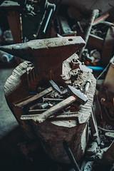 Old blacksmith equipment.