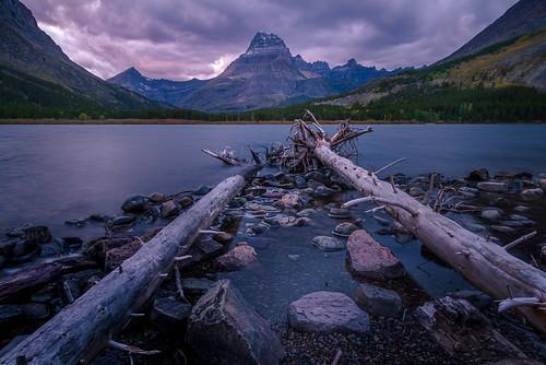 Last Light At Swift Current Lake - Glacier National Park