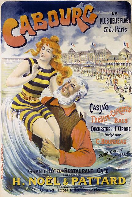 Photo:ELZINGRE, Edouard (1880-1966).  Cabourg, La plus belle plage, c. 1902. By Halloween HJB