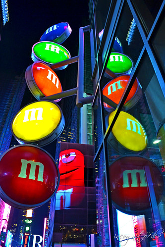 M&M's World Times Square at Night Midtown Manhattan New York City NY P00501 DSC_1796
