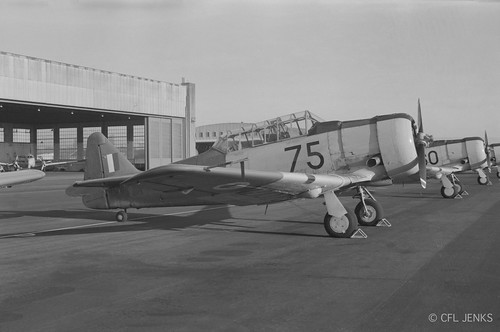 12 February 1976, RNZAF Harvards NZ1075 and NZ1060 at Wigram
