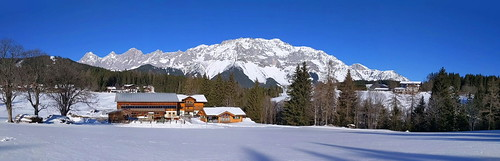 Dachstein Mountain from Steirerloipe