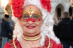The pleasure of wearing a mask. Seen at the 2020 Carnival in Venice.