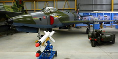 Supermarine Swift FR.5, WK277, with Fairey Fireflash missile, Newark Air Museum, Nottinghamshire.