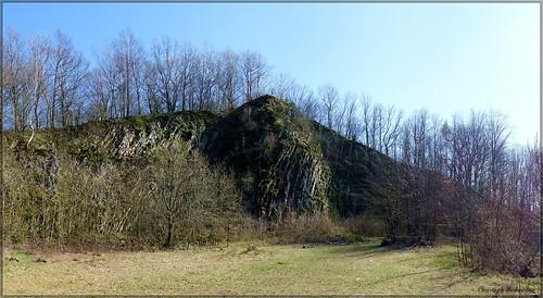 Der ehemalige Basaltsteinbruch am Wilisch