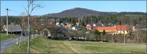 Blick über Hirschbach zum Wilisch